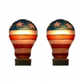 Tiffany style hand-painted E27, 25W Replacement Bulb (US - Twin Pack)**