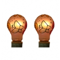 Tiffany style hand-painted E27, 25W Replacement Bulb (Flower - Twin Pack)*