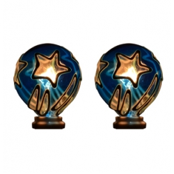Tiffany style hand-painted Nightlight Replacement Bulb (Star - Twin Pack)