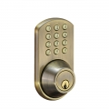Keypad Deadbolt Lockset - Antique Brass Finish