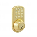 Keypad Deadbolt Lockset - Polished Brass Finish
