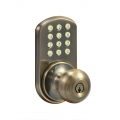 Keypad Knob Lockset - Antique Brass Finish