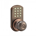 Keypad Knob Lockset - Oil-Rubbed Bronze Finish