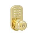 Keypad Knob Lockset - Polished Brass Finish