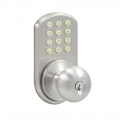 Keypad Knob Lockset - Satin Nickel Finish