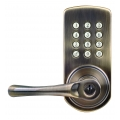 Keypad Lever Entry Lockset, Left-hand - Antique Brass Finish