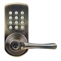 Keypad Lever Entry Lockset, Right-hand - Antique Brass Finish