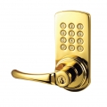 Keypad Lever Entry Lockset, Left-hand - Polished Brass Finish