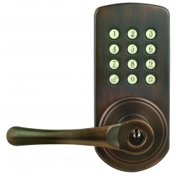 Keypad Lever Entry Lockset, Left-hand - Oil-rubbed Bronze Finish