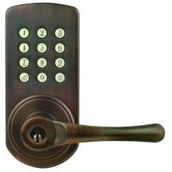 Keypad Lever Entry Lockset, Right-hand - Oil-rubbed Bronze Finish