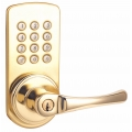 Keypad Lever Entry Lockset, Right-hand - Polished Brass Finish