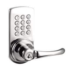 Keypad Lever Entry Lockset, Right-hand - Satin Nickel Finish