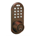 Keypad & RF Remote Control Deadbolt lockset - Oil-Rubbed Bronze Finish