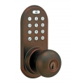 Keypad & RF Remote Control Knob Lockset - Oil-Rubbed Bronze Finish