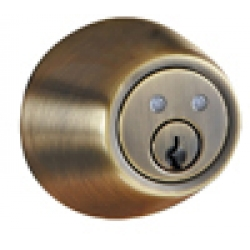 RF Remote Deadbolt Lockset - Antique Brass Finish
