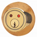RF Remote Deadbolt Lockset - Polished Brass Finish