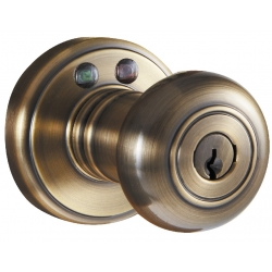 RF Remote Control Knob Lockset - Antique Brass Finish