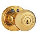 RF Remote Control Knob Lockset - Polished Brass Finish