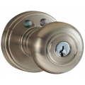 RF Remote Control Knob Lockset - Satin Nickel Finish