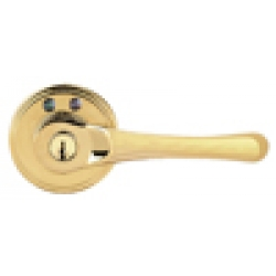 RF Remote Control Lever Lockset, Right-Hand - Polished Brass Finish